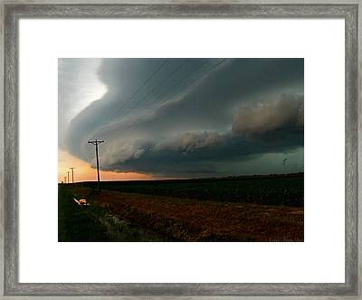 Framed Print featuring the photograph Storm Front by Debbie Portwood