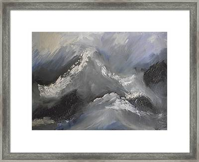 Framed Print featuring the painting Storm Gathering by Martin Blakeley