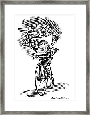 Storm In A Teacup, Conceptual Artwork Framed Print