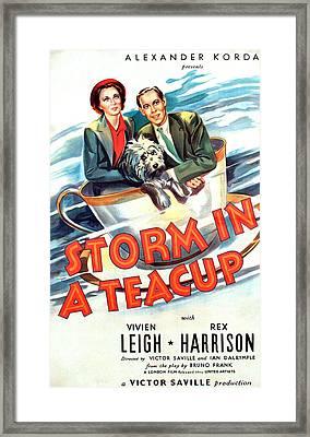 Storm In A Teacup, Vivien Leigh, Rex Framed Print by Everett