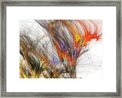 Storm In Fractal-trees Framed Print by Steve K