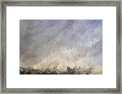 Storm In Life Framed Print by Deborah Benoit