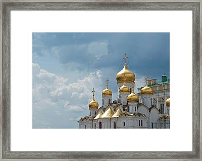 Storm In Russia Framed Print by Boris SV
