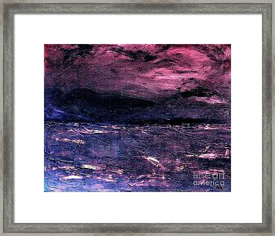 Storm Of Storms Coming Framed Print by Marsha Heiken