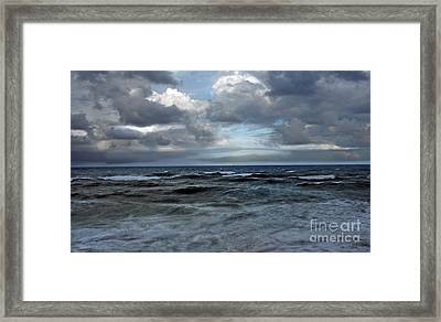 Storm Off Coral Cove Beach Framed Print by Richard Nickson