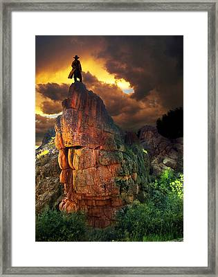 Storm On Buckhorn Mountain Framed Print by Ric Soulen