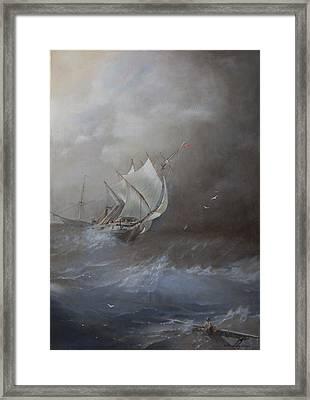 Storm On The Arctic Ocean Framed Print by Oleg Gorovoy