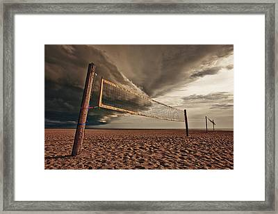 Volley Ball Net Framed Print