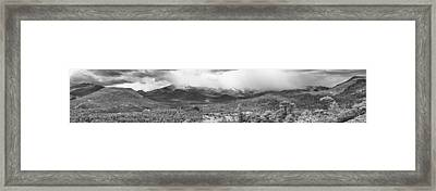 Storm On The Rockies Framed Print by G Wigler
