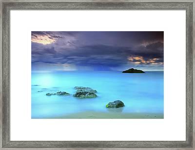 Storm Framed Print by Oscar Gonzalez