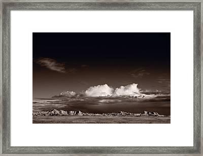 Storm Over Badlands Framed Print by Steve Gadomski