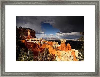 Storm Over Bryce Canyon Framed Print by Butch Lombardi