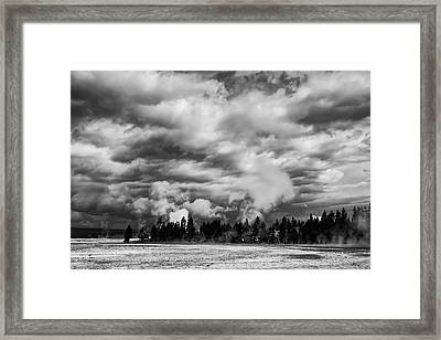 Storm Over Firehole Lake Drive Framed Print by Daniel Hagerman