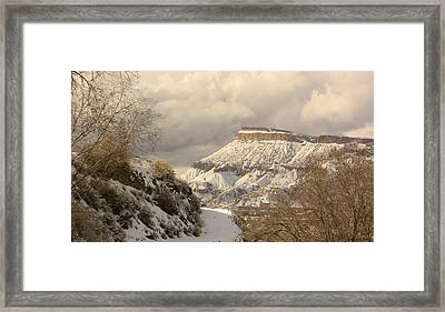 Storm Over Mt Garfield Framed Print