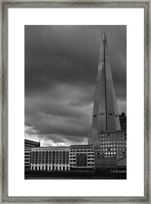 Storm Over The Shard Framed Print by Kevin Bates