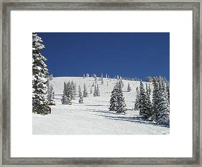 Storm Peak Face Framed Print