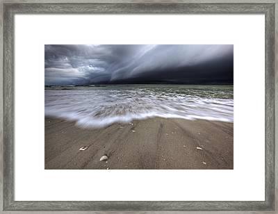 Storm Rolling Framed Print