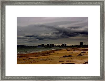 Storm Rolls In Framed Print by Heidi Smith