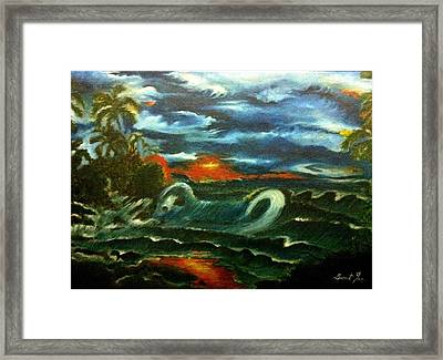 Storm Framed Print by Sumit Jain