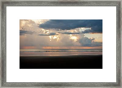 Storm Sunset Framed Print by Anthony Doudt