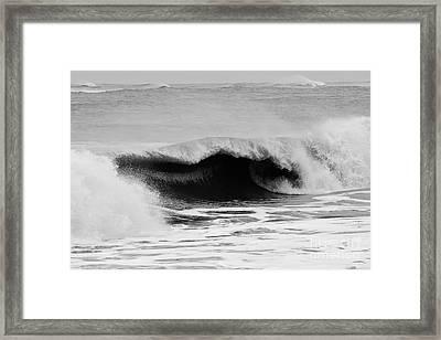 Storm Surf Framed Print by Lynda Dawson-Youngclaus