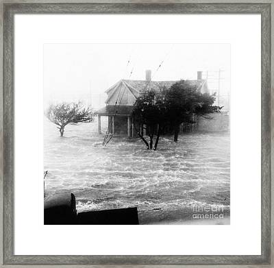 Storm Surge During Hurricane Framed Print by Science Source