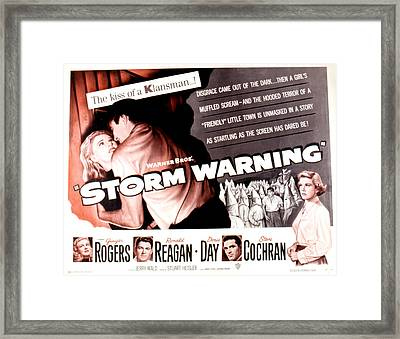 Storm Warning, Ginger Rogers, Steve Framed Print