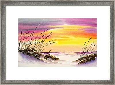 Framed Print featuring the painting Storm Warning IIi by Richard Willows