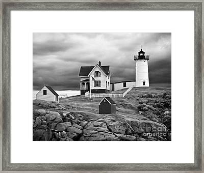 Storm Warning Framed Print by Jim Chamberlain