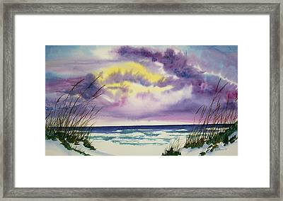 Framed Print featuring the painting Storm Warning by Richard Willows