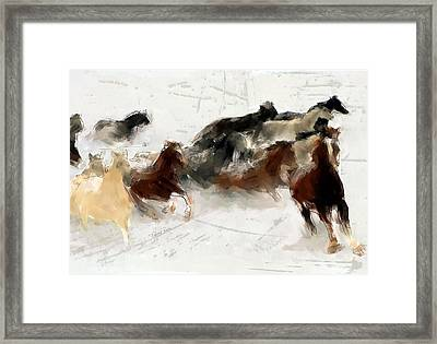 Storm Warning Framed Print by Robert Smith