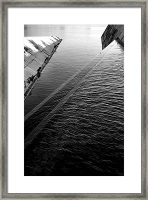 Storm Water Graphic Framed Print by Steven Ainsworth
