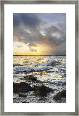 Storm Waves Framed Print by Francesa Miller
