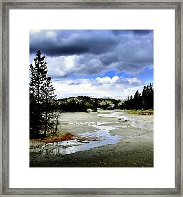 Stormclouds Over Norris Basin Framed Print by Ellen Heaverlo
