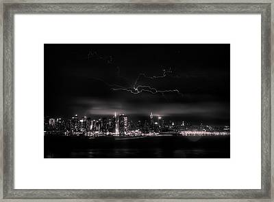 Storming Into The Night Framed Print