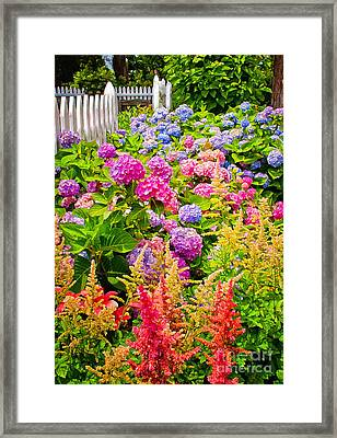 Framed Print featuring the photograph Storming The Garden Gate by Jim Moore