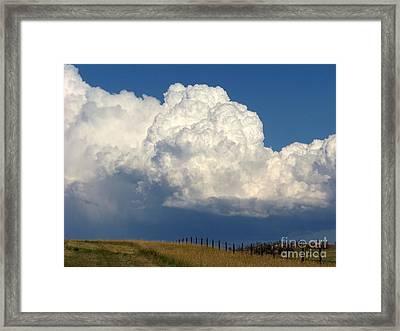 Storm's A Brewin' Framed Print