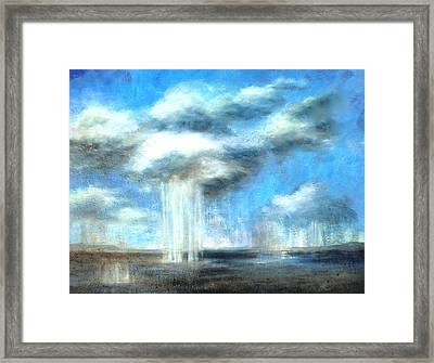 Storm's A Comin' Framed Print by Lisa Masters
