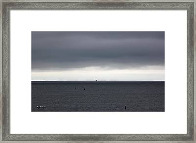 Storms Ahead Framed Print by Michelle Wiarda-Constantine
