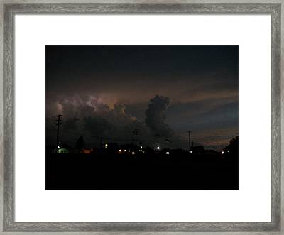 Storm's Brewing Framed Print by Tracy Eaker-Vann