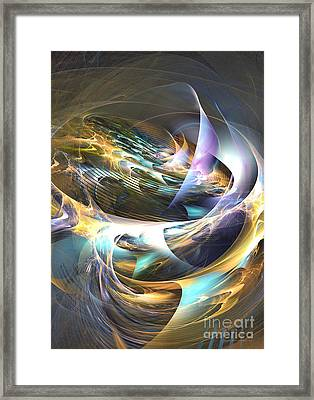 Storm's Ear - Fractal Art Framed Print by Sipo Liimatainen