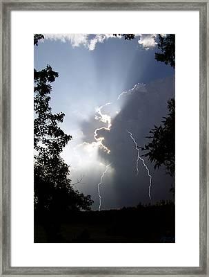 Storm's Edge Framed Print