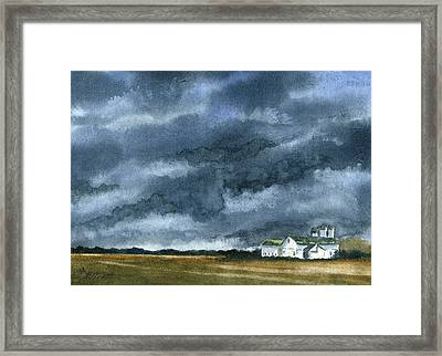 Storms Of Life Framed Print by Marsha Elliott