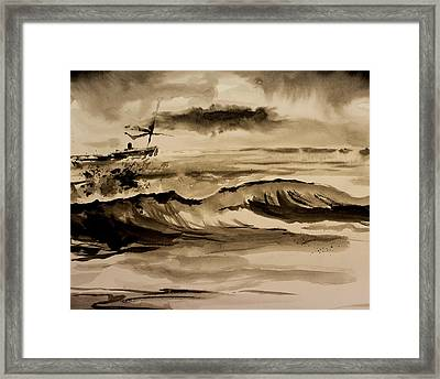 Stormy Arrival Framed Print