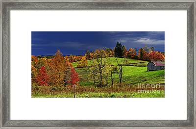 Stormy Autumn Morning Framed Print by Thomas R Fletcher