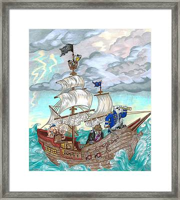 Stormy Bearings Framed Print