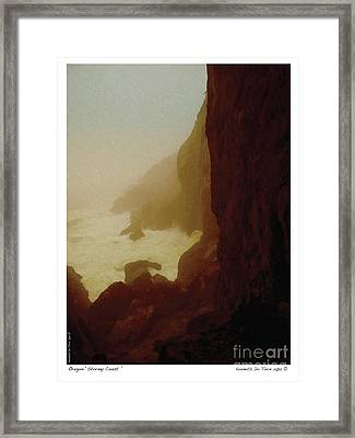 Stormy Coast Framed Print