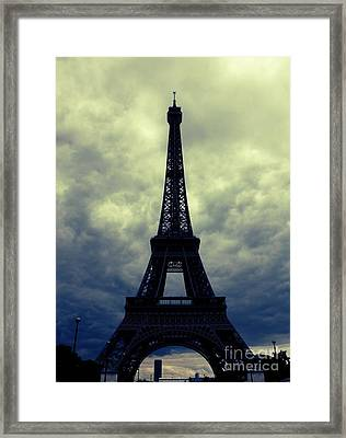 Stormy Day In Paris Framed Print by Carol Groenen