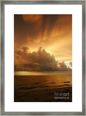 Stormy Gulf Coast Sunset Framed Print by Matt Tilghman