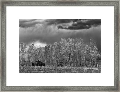 Stormy Morning In The Grand Tetons Framed Print by Sandra Bronstein